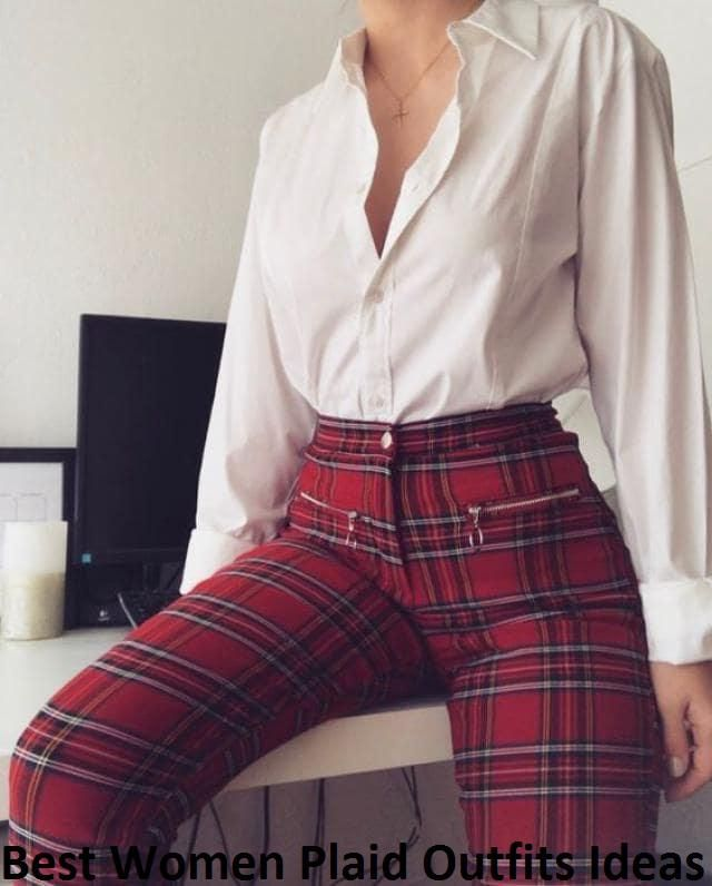 Best Women Plaid Outfits Ideas We absolutely love a plaid style.Perfect, for good design of all pieces of clothing. Wh…