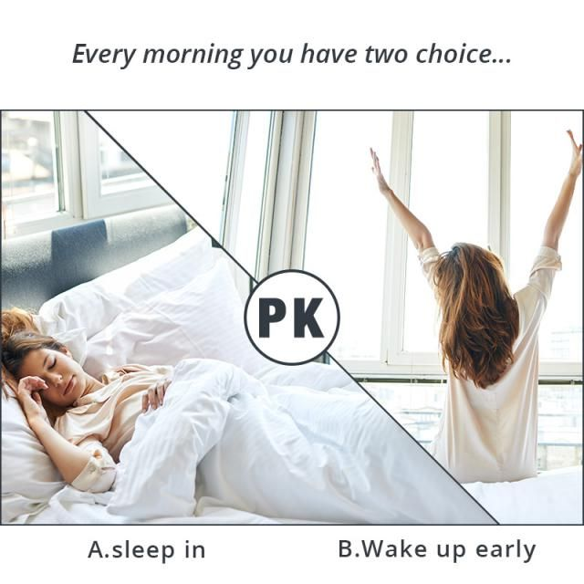 Every morning you have two choice...