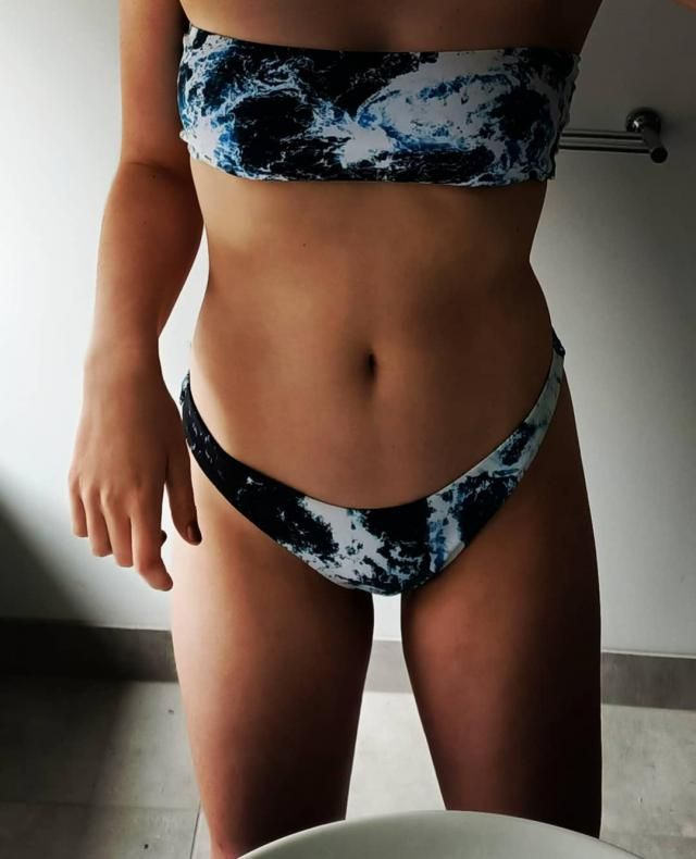 Absolutely love this bikini! Ocean pattern is gorgeous! After reading reviews I ordered a size up, Large instead of a …