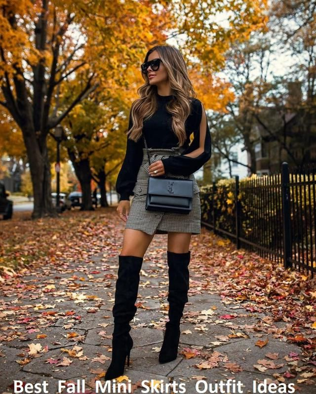 Each season carries its own trends.If you want to look effortlessly stylish and sassy then take out your fall mini skir…