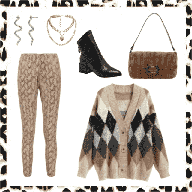 animal print, brown color, warm winter