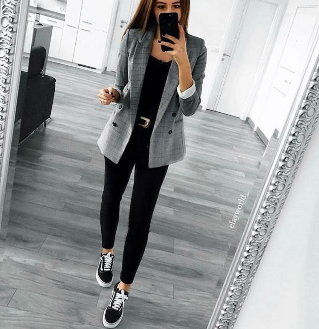 Flap Pockets Plaid Double Breasted Blazer The perfect outfit  for the fall season! Only in Zaful! BUY HERE! Beautiful …
