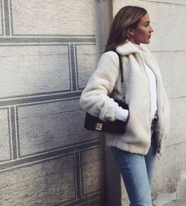 ZAFUL Fluffy Short Winter Faux Shearling Coat 