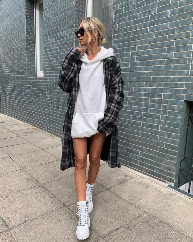 Checkered Pocket Longline Coat