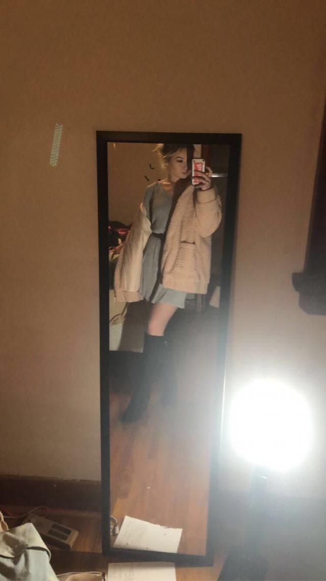 Love this jacket, comfy, warm, and super cute. Looks exaclty like the pictures  True to size