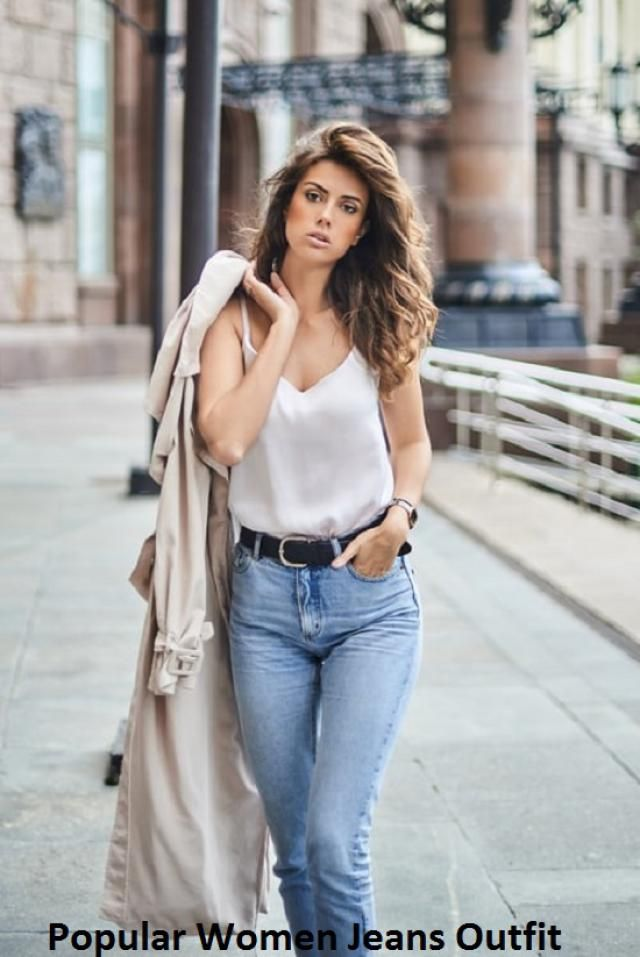 Jeans for the fall season Although most of the seasons most desirable models feature wide or bell-shaped jeans, high w…