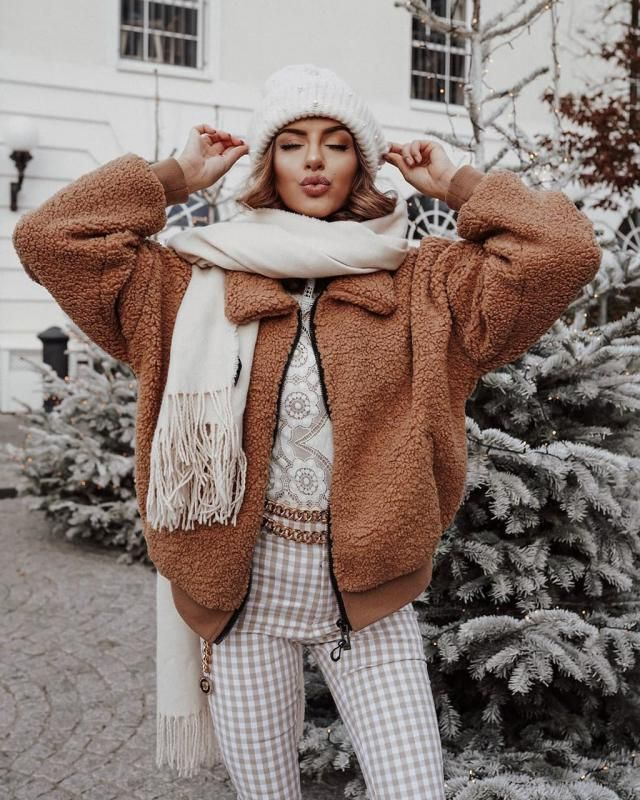 ZAFUL Fluffy Faux Shearling Teddy Winter Coat   Warm and soft teddy winter coat from Zaful. Zaful has prepared a large…