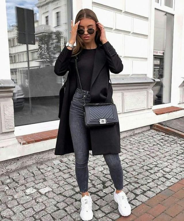 Belted Skirted Patched Pockets Waterfall Coat  Beautiful black coat  with jeans . BUY HERE! Beautiful clothing of all …