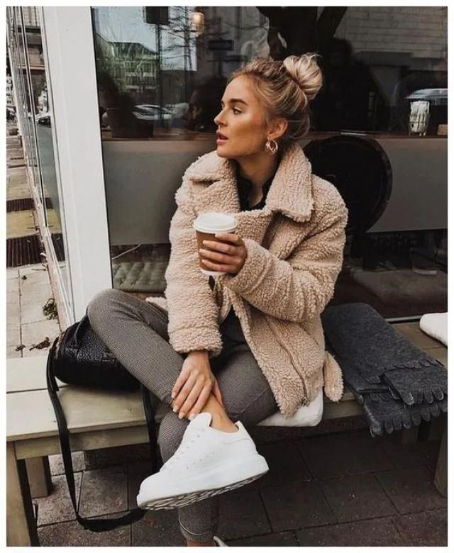 Get fur jacket, winter style, online shop