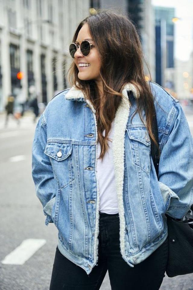 Jeans fur jacket, online shop, women style!!
