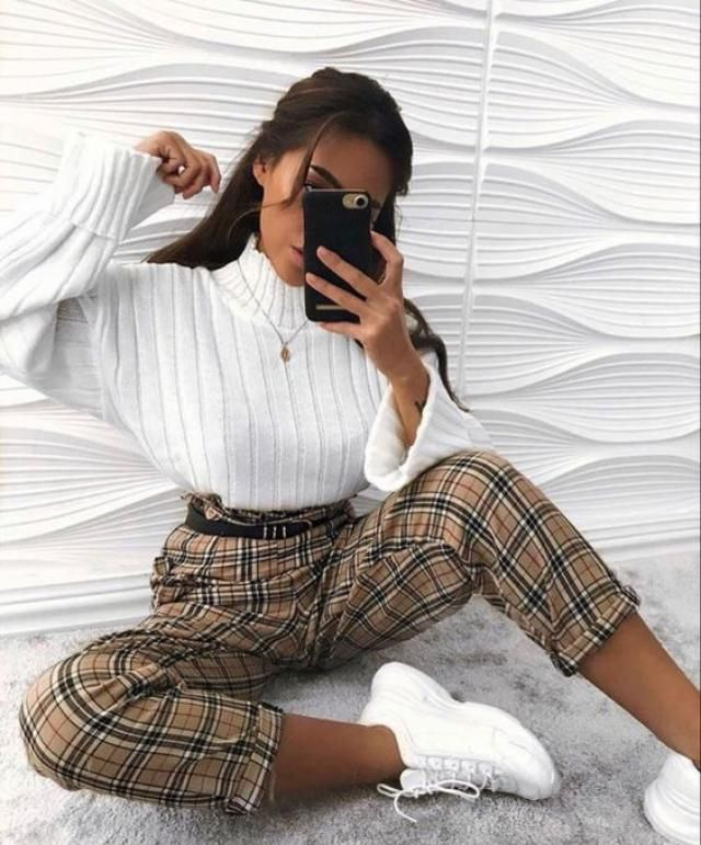 Zipper Fly Plaid Straight Pants    BUY HERE! Beautiful clothing of all designs and creations is here! ZAFUL IS THE BES…