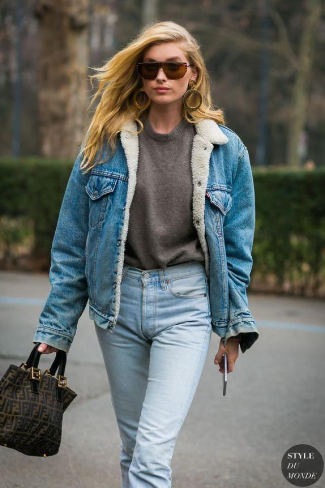 Jeans jacket, fur jacket, online shop, women autumn style!