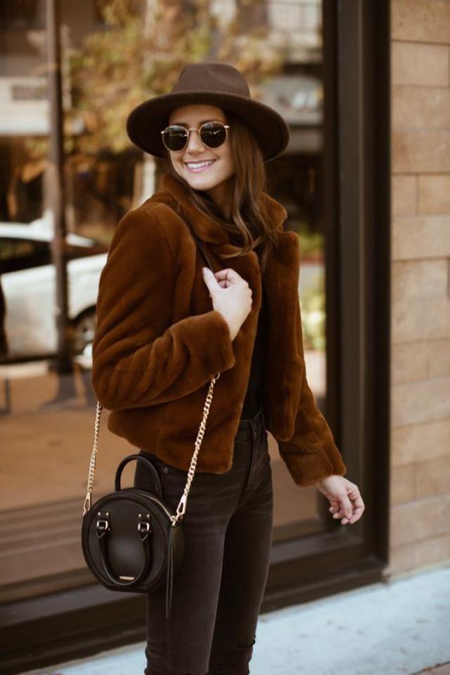 Brown jacket, women style, online shop, autumn style..