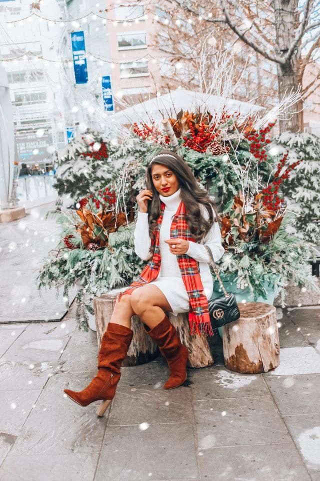 The Cutest White Sweater Dress perfect for cozy Fall and winter looks. Such a wonderful fit and absolutely love the chi…