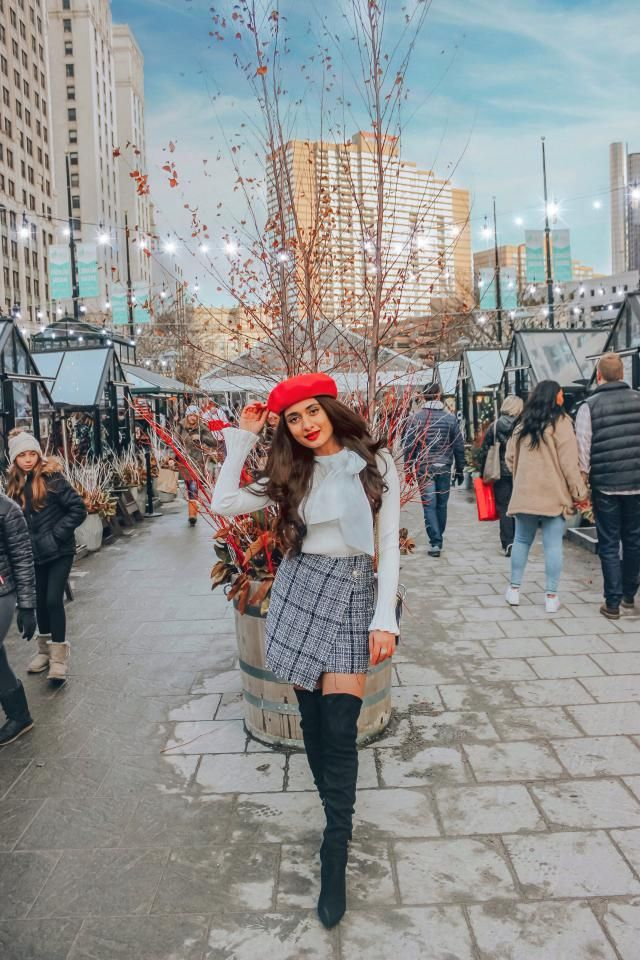 The Cutest checkered skirt perfect for cozy Fall and winter looks. Such a wonderful fit and absolutely love the chic st…
