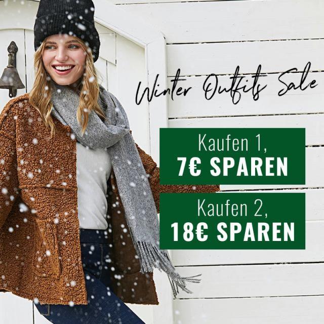 Winter Outfits Sale!  1 Stück kaufen, 7€ sparen! 2Stücke kaufen, 18€ sparen!  >>Sonderaktion war bereits …