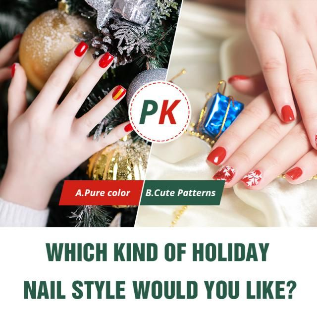 Which kind of holiday nail style would you like?