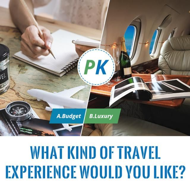 What kind of travel experience would you like? 