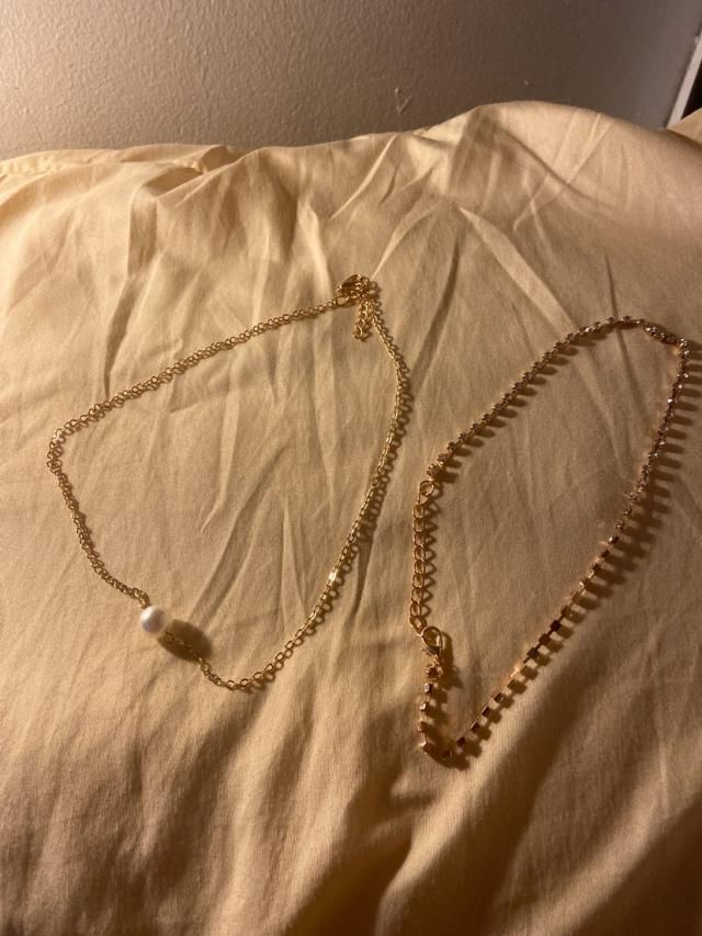 It's actually two different necklaces so it gives you more freedom or choice to wear it separately. For it's price, I …