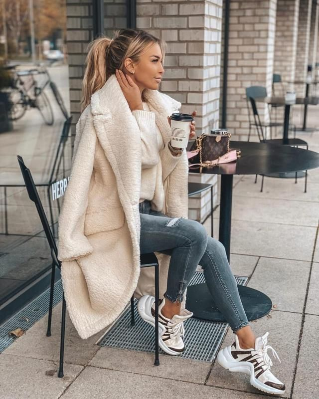 ZAFUL Open Faux Shearling Fluffy Teddy Coat