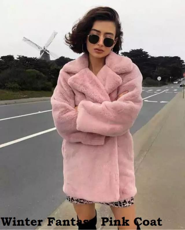 Winter Fantasy Pink Coat