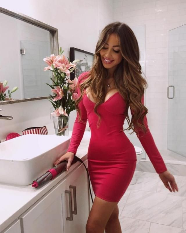 Red  Bodycon Party Dress  Valentine&;s Day is coming. Come to Zaful! Choose beautiful dresses and clothes for the …
