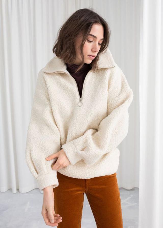 ZAFUL O-ring Zip Drop Shoulder Fuzzy Sweatshirt  A beautiful sweatshirt with pants. Come to Zaful! Shop at Zaful !    …