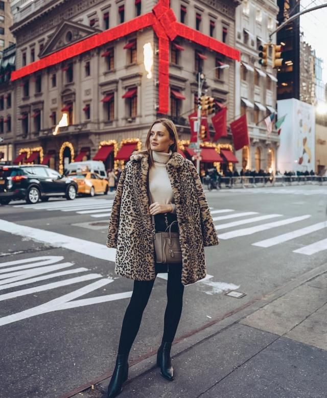 ZAFUL One Button Leopard Print Faux Fur Coat A wonderful leopard print coat with sweater and leggings. Come to Zaful!…