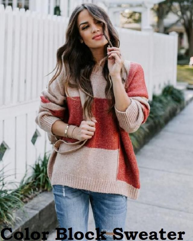 Color Block Sweaters If there's one trend I'm all over this season, it's the color block sweater look.  Iove the colo…