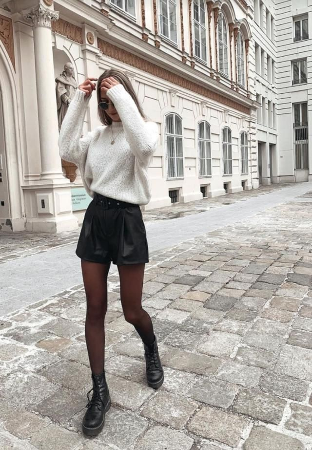 Turtleneck Side Slit High Low Sweater 