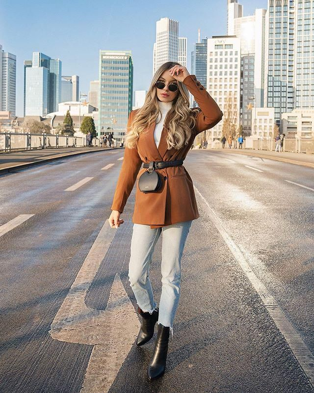ZAFUL Lapel Double Breasted Longline Blazer