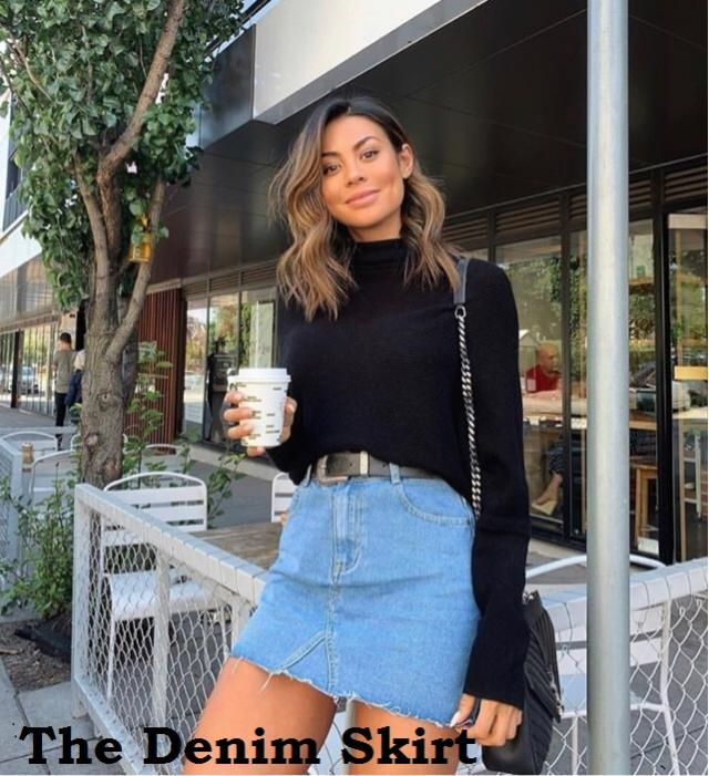 The Denim Skirt The denim skirt is a summer staple that looks just as cool (if not cooler) going into fall.  Short the…