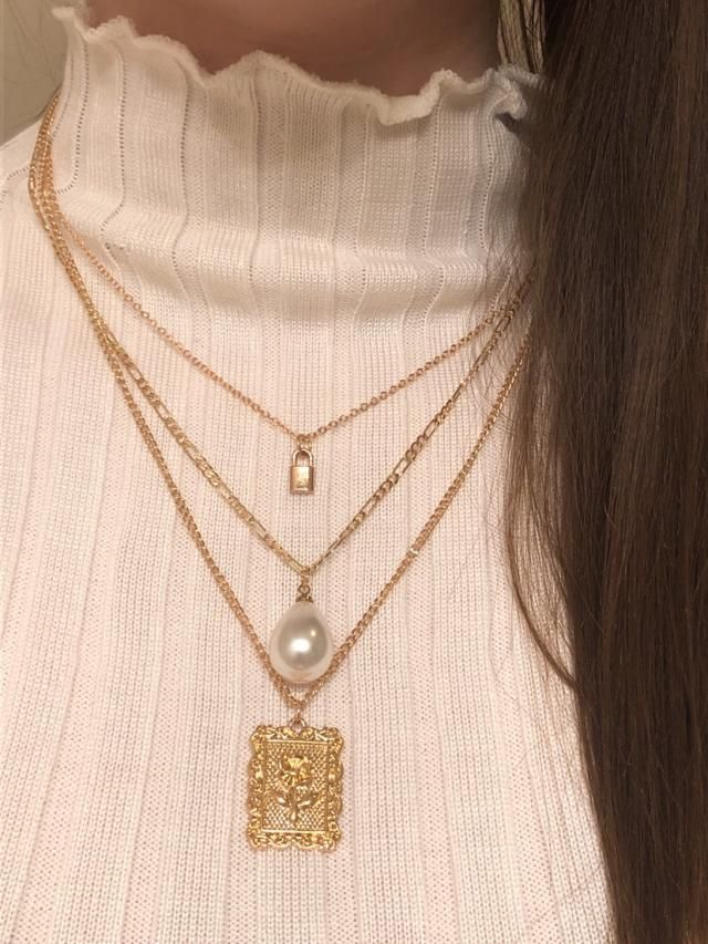 Love this necklace! It comes with all three fastened to one clasp so keep that in mind. It's super cute and looks just…