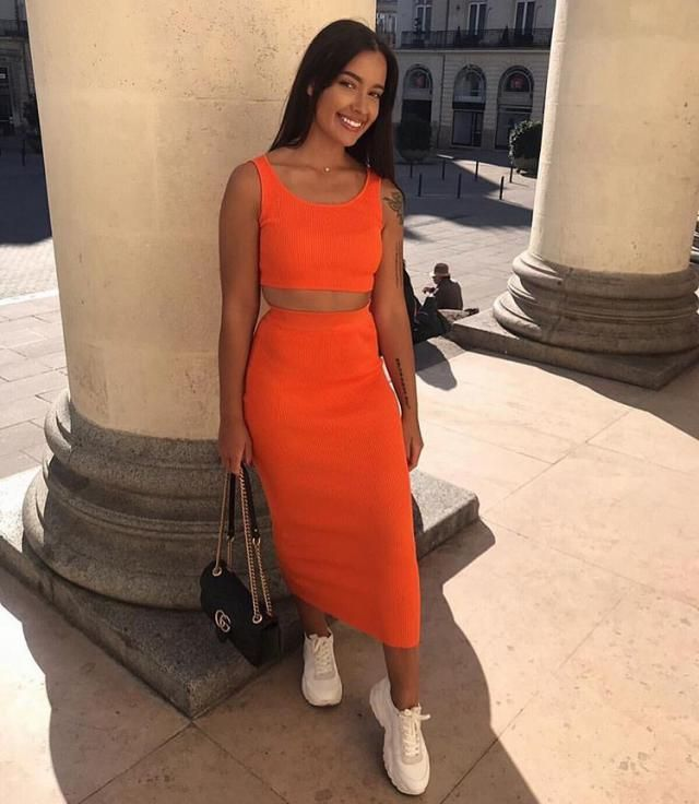 A beautiful crop top and skirt set from Zaful-a. Big sale! Super low prices! Shop at Zaful!       -Zstar