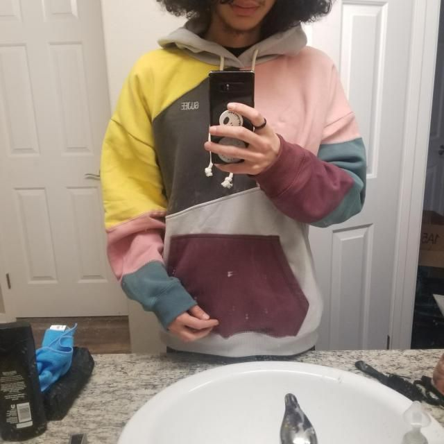 super comfy! nice thick sweater and it looks great just like in the picture. True to size and fits well