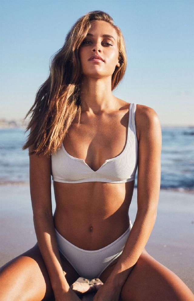 ZAFUL Ribbed V Wired Cami Bikini Set