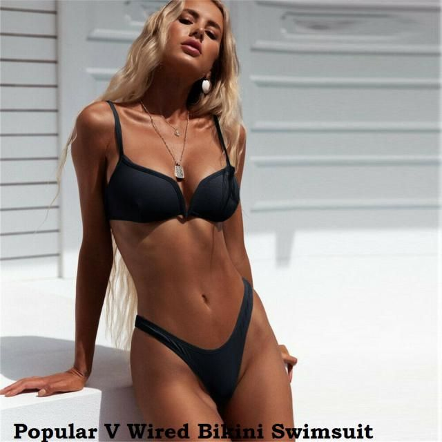 Popular V Wired Bikini Swimsuit