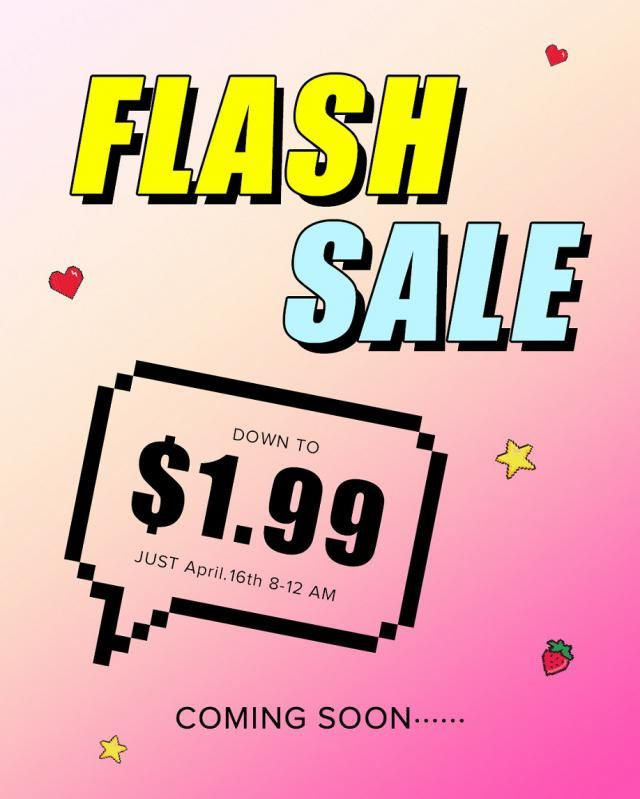 ZAFUL Flash Sale! On April 16th, 8:00-12:00 a.m. Down to $1.99! Don`t miss it!