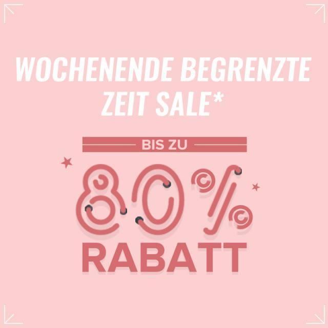 Wochenende 72H Sale! Bis zu 80% Rabatt! Mehr als 1000+ Artikel in Sale!