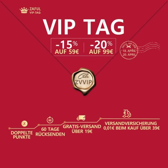 ZAFUL VIP TAG IN APRIL!  Extra 20% auf Bestellungswert ab 99€!