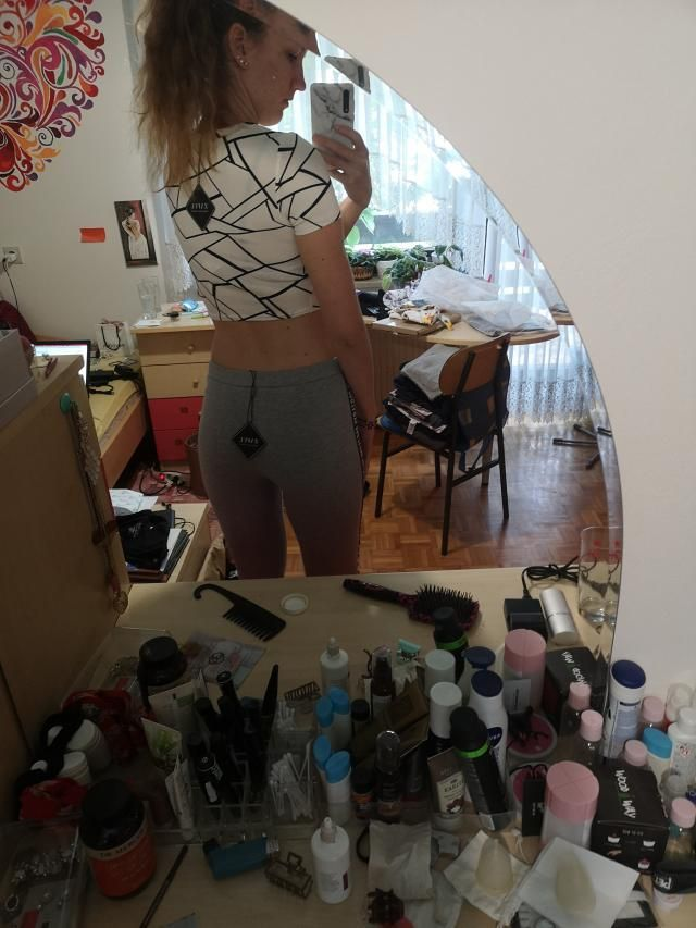 Comfortable and fantastic material. Cute. Crop top.  Looks exaclty like the pictures. I bit see trough.