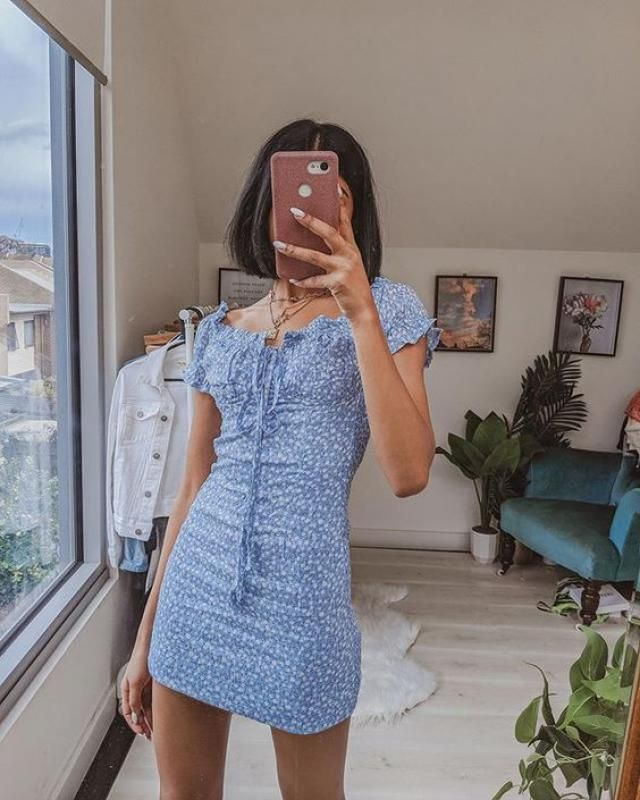 ZAFUL Ditsy Floral Off Shoulder Tie Dress    Get ready for summer! Shop in Zaful! Big sale! Super low prices!        …