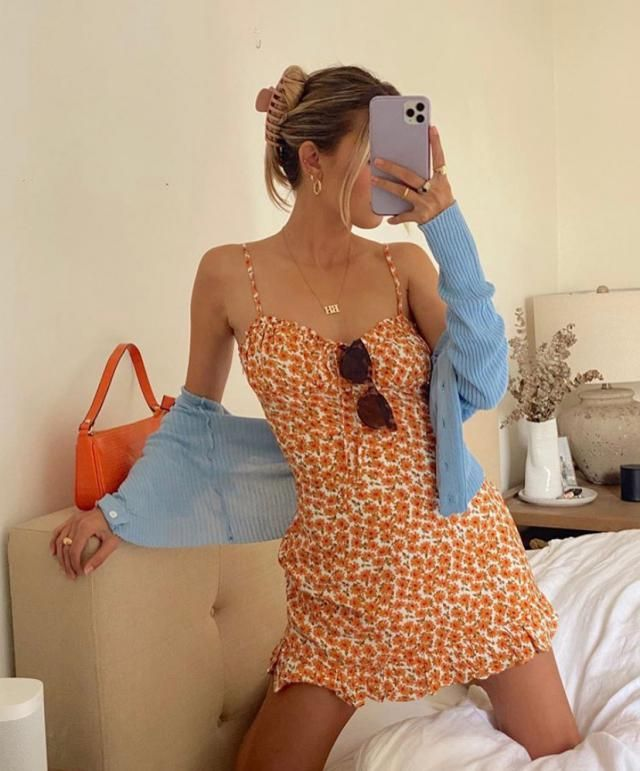 ZAFUL Ditsy Print Frilled Cami Mini Dress  A beautiful summer ditsy floral mini dress.