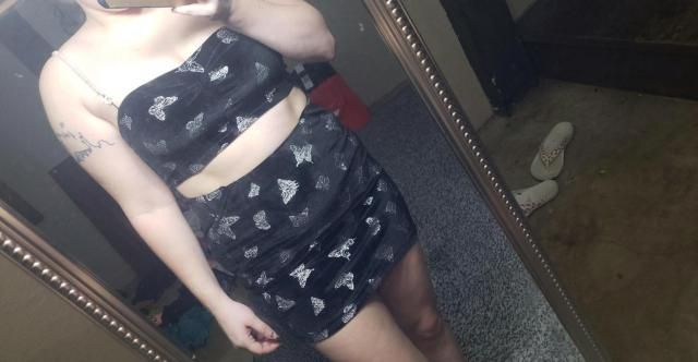 Great material. Very soft. Fit well. The butterflies may be itchy to those with sensitive skin. The top was slightly s…