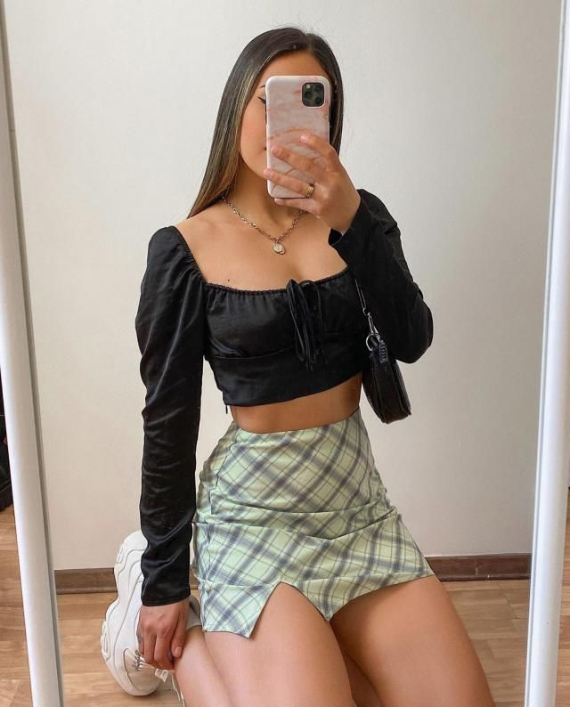 For a summer outfit this is a cool plaid skirt, get it here in ZAFUL!♥