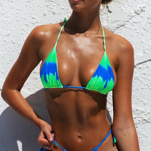 ZAFUL Tie Dye String Bikini Swimsuit    Summer is coming ! A beautiful swimwear from Zaful-a buy here! Zaful Shop!   …