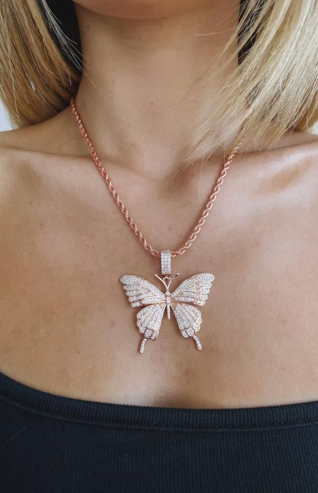 Butterfly Pendant Alloy Necklace