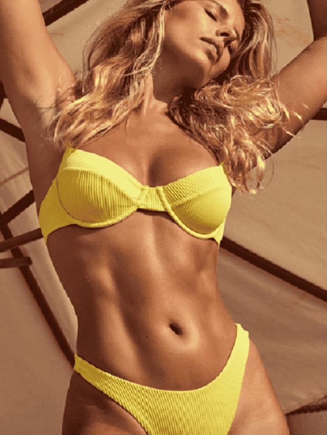 ZAFUL Underwire Shirred Balconette Bikini Set  Summer is coming ! A beautiful swimwear from Zaful-a buy here! Zaful Sh…
