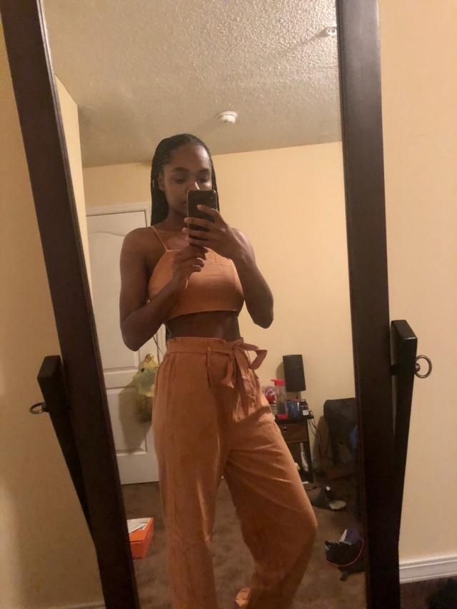 I love this two piece! It's really cute and fits well. The pants could be a bit tighter toward the bottom of the legs,…