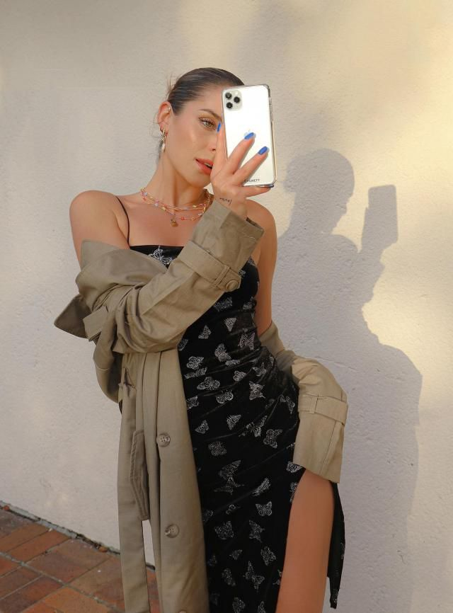 ZAFUL Metallic Butterfly Slit Velvet Cami Dress  A perfect butterfly cami dress from Zaful. If you follow fashion tre…